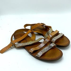 Mariella made in Italy leather strappy sandals 9